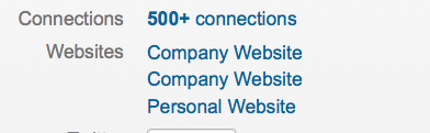 LinkedIn Screen Grab With Defaul Text