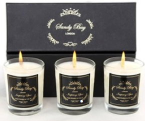 scented candles from the Gifts From Fairies Online Shop