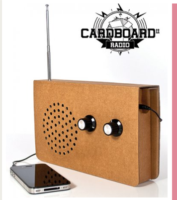Cardboard Radio Screen Image