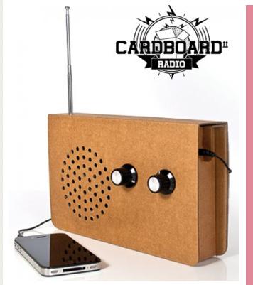 Cardboard Radio Screen Image