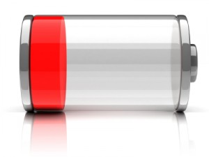 Empty Smartphone Battery