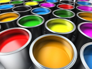 Paint representing website artwork