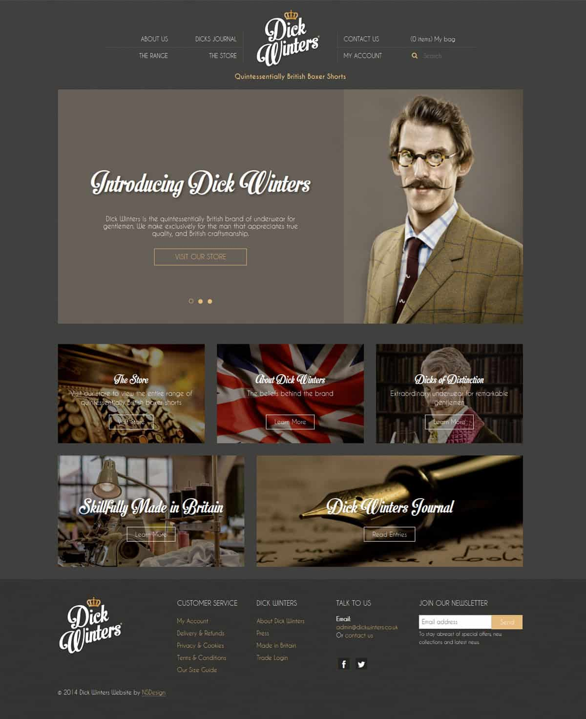 Dick Winters - Design & Development | Wordpress Integration | Ecommerce