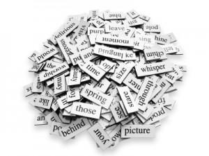 Words representing typography