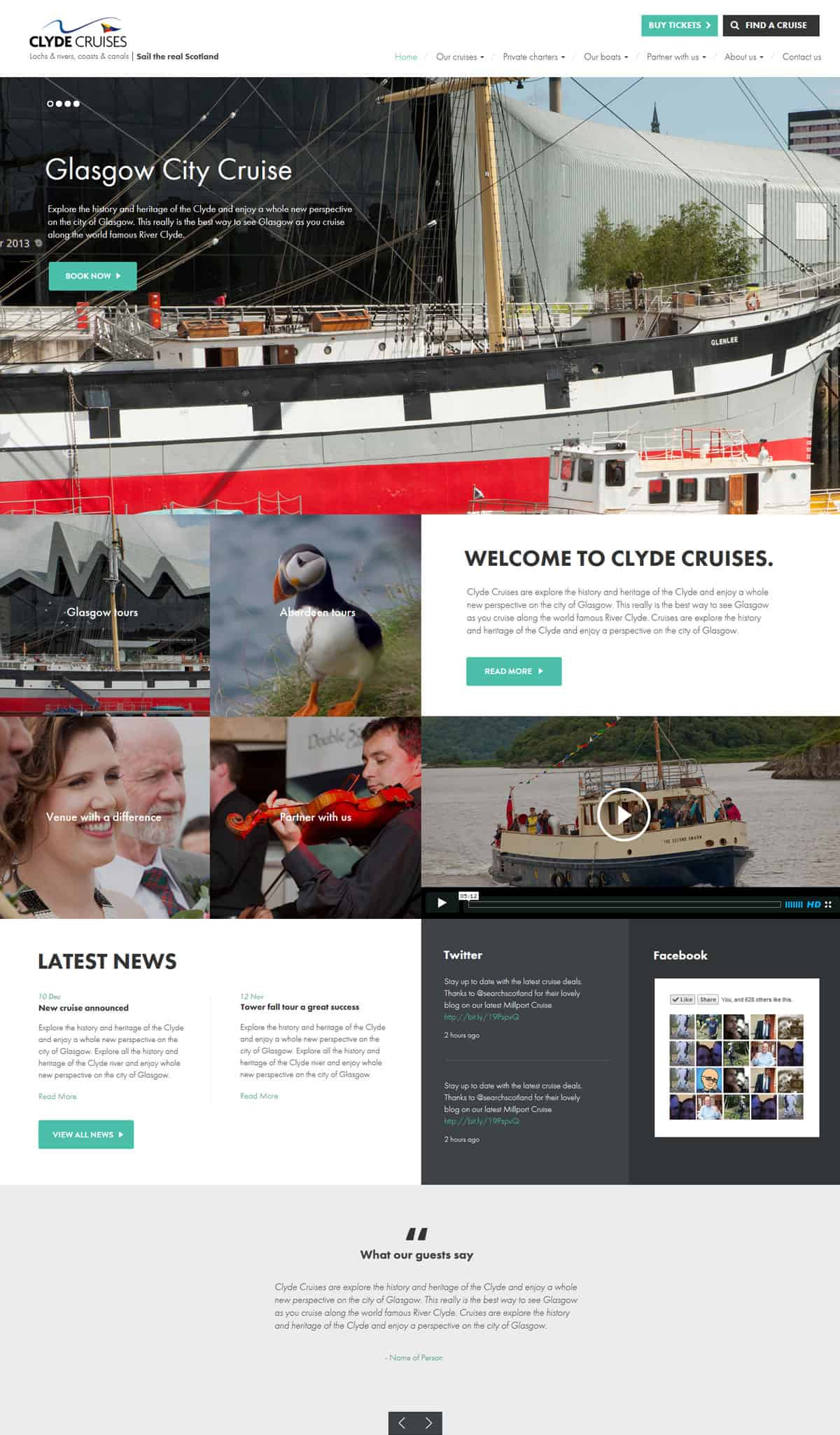 Clyde Cruises - Design and Development | Wordpress | Booking Integration