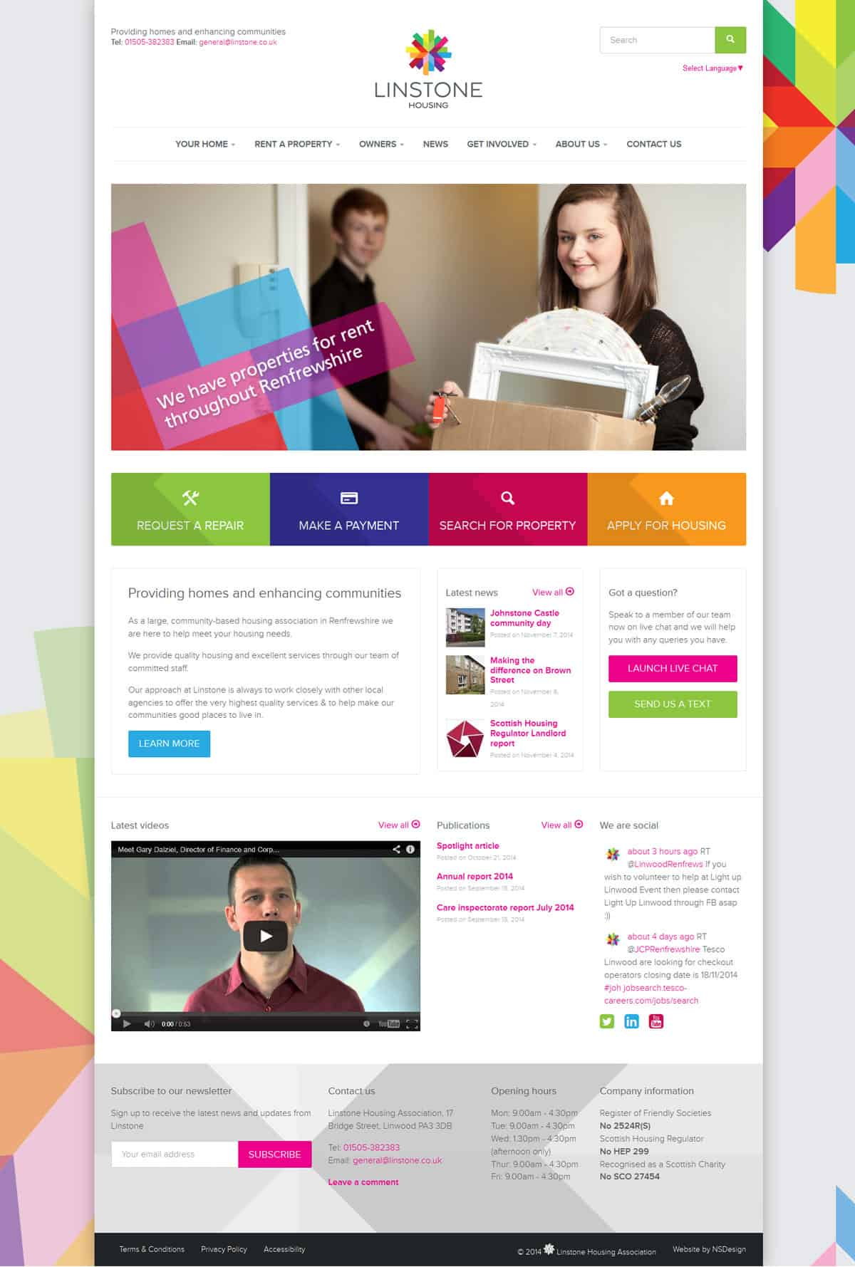 Linstone Housing Association - Design and Development | Wordpress | Illustration | Animation
