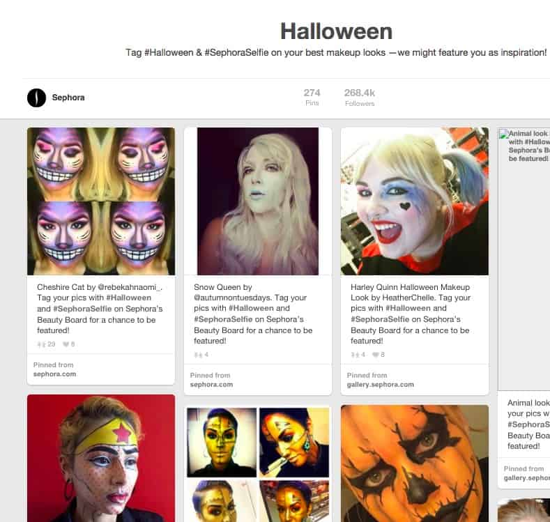 Sephora Halloween Pinterest