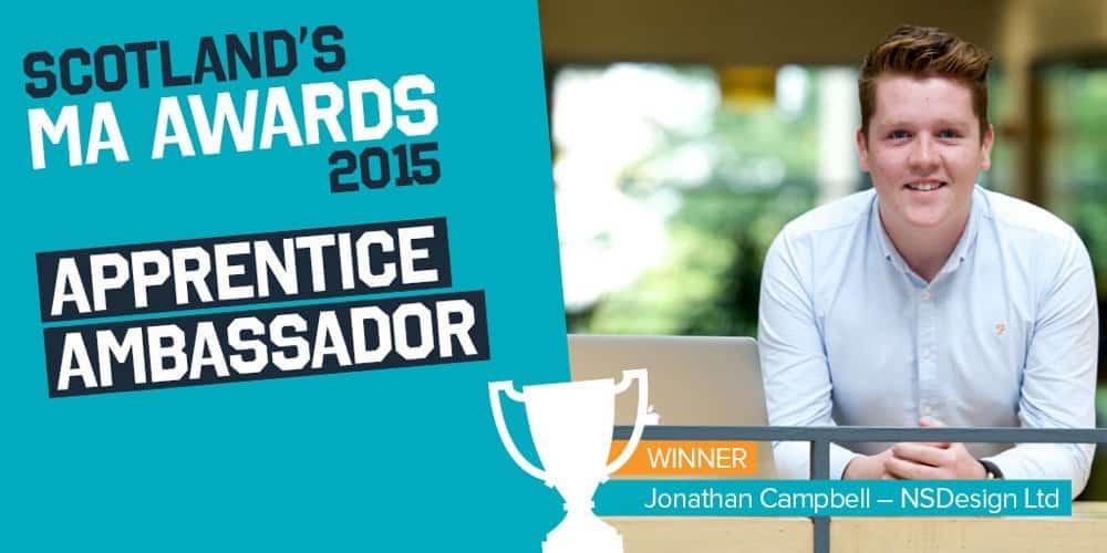 Scotland's MA Awards 2015 - Apprentice Ambassador - Jonathan Campbell