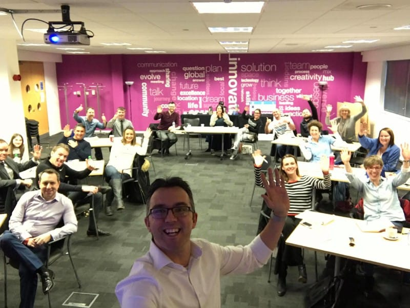 We practice what we preach - this is a selfie from our latest Embrace the Space course!