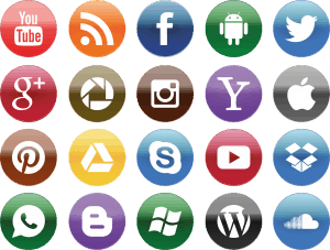 Icons representing how to segment social media audiences