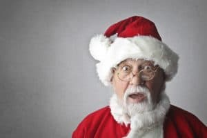 Santa representing Christmas Social Marketing