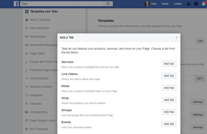 Facebook - Add new Tabs - Business Pages