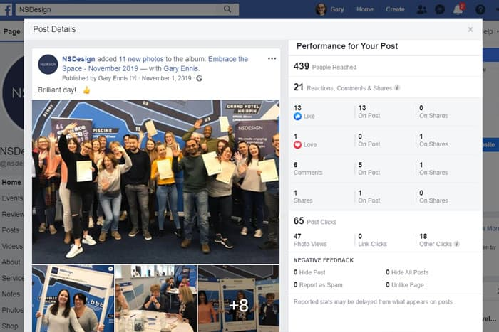 Facebook Business Page for beginners - Post Reach and Engagements